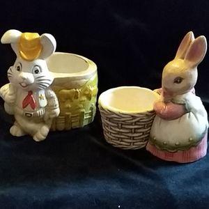 VTG Easter flower pot/candy dish